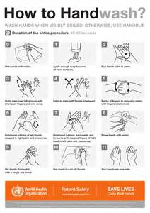 how to hand wash poster