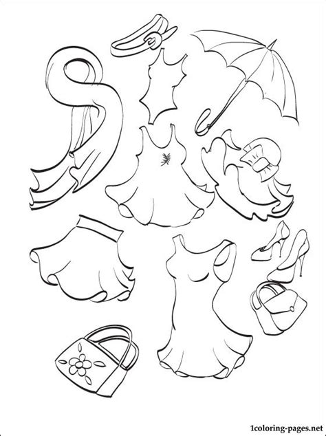 Summer Clothes Coloring Pages summer clothing coloring page coloring pages