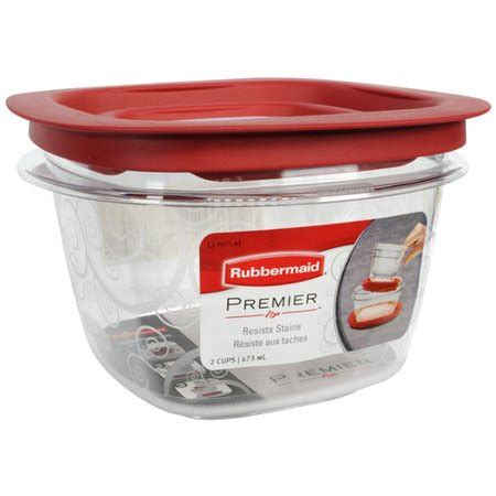 Walmart Kitchen Storage Containers by Rubbermaid 16 Oz Premier Square Food Storage Container