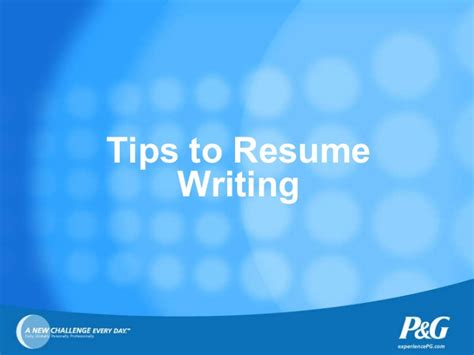 P G Resume Upload by Tips For Resume Writing Linked In