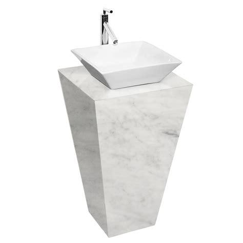 vanity only for pedestal sinks esprit bathroom pedestal vanity in white carrara marble