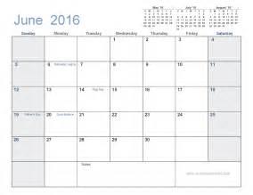 June 2016 calendar with holidays printable huyrgrzh
