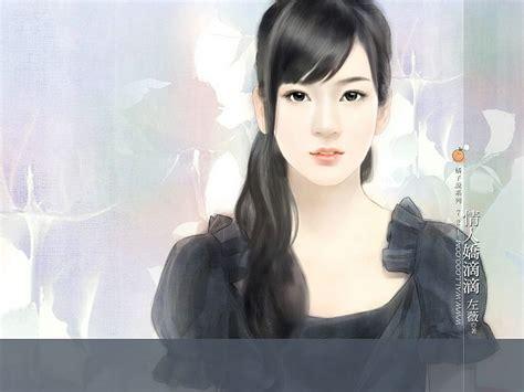 wallpaper girl painting beautiful chinese girl paintings wallpaper 8 wallcoo net