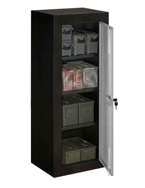 Stack On Ammo Security Cabinet With Reinforced Shelves Cabinet With Shelves