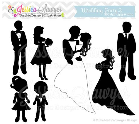 party silhouette wedding party silhouette clip art www imgkid com the