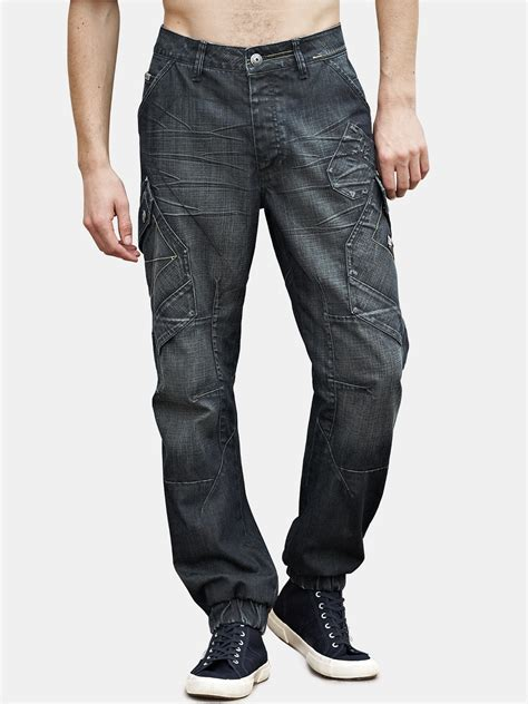 mens bench jeans bench bench mens kiedis carrot fit jeans in blue for men