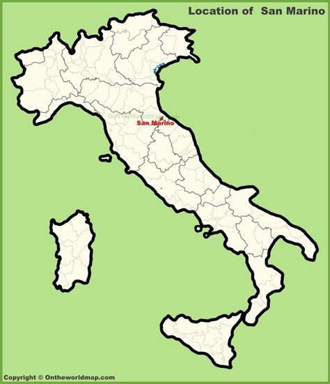 map of san marino san marino location on the map of italy