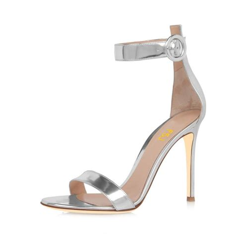 3 inch sandals silver ankle sandals 3 inch stiletto heels shoes for