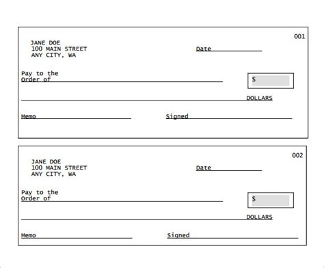 cheque template sle blank cheque 5 documents in pdf psd