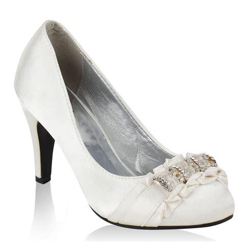 Schuhe Wei Hochzeit by Edle Damen Braut Schuhe Wei 223 94798 Pumps Hochzeit 36 41 Ebay