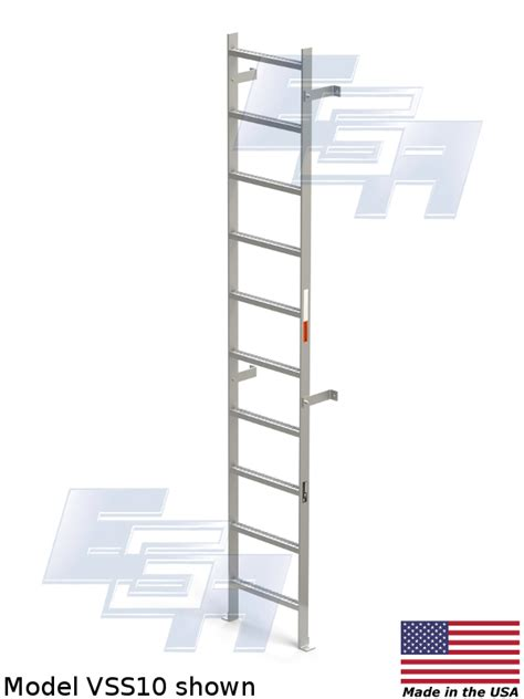 ladder ledge quot free quot vertical wall mount ladders made in usa val wo series 1