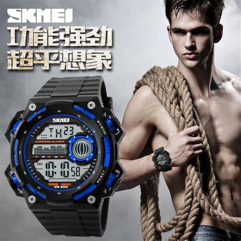 Jam Tangan 5 11 Beast Black Blue skmei jam tangan digital pria dg1115 black blue