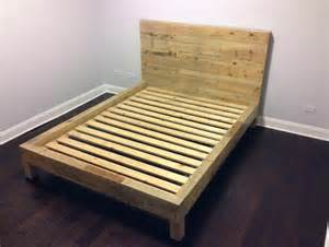 Wooden Pallet Bed Frame Bedroom Wood Pallet Bed Frame With Simple Design