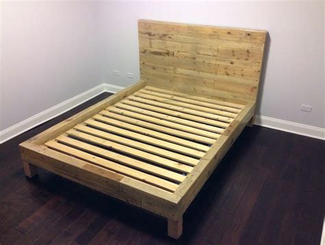 wooden pallet bed frame bedroom natural wood pallet bed frame with simple design