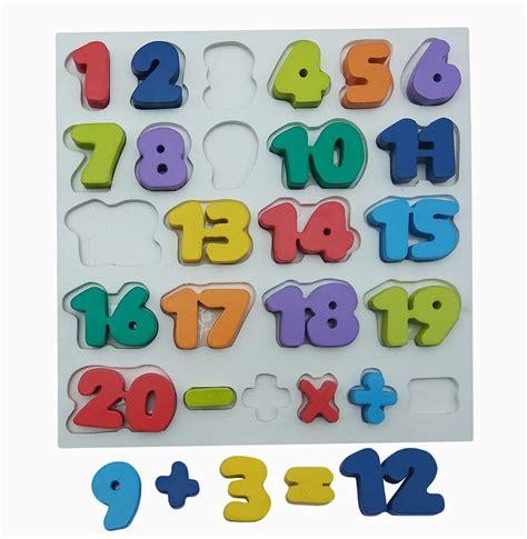 Puzzle Kayu Angka 1 20 nobie chunky angka 1 20 mainan kayu