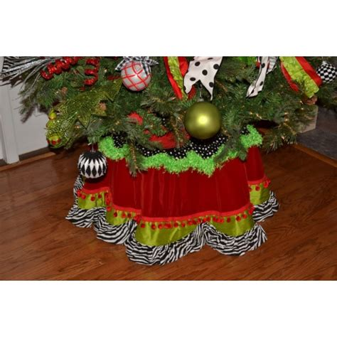 lime and red tree skirt funky tree skirt lime green zebra
