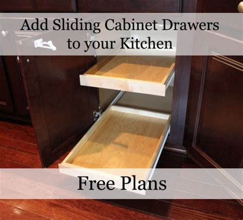 Sliding Drawers For Kitchen Cabinets by Our Home From Scratch