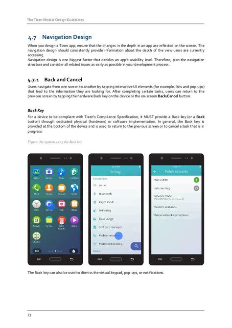 app design requirements tizen mobile design guidelines