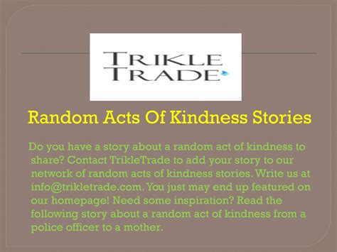 indelible acts stories series 1 random acts of kindness stories by trikle trade issuu