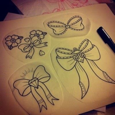 cute bow tattoos designs bow sketches girly want