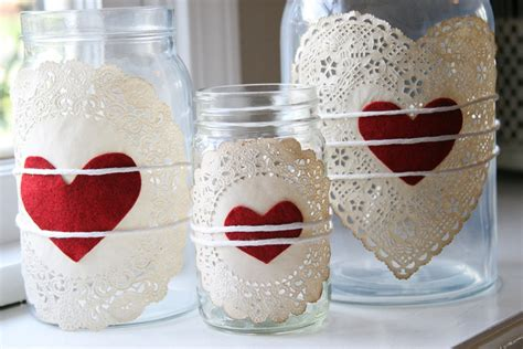 Shamrock Decorations Home doilies amp heart jars mason jar crafts love