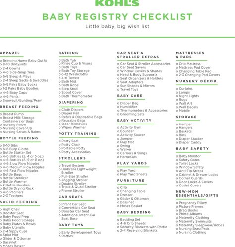baby registry checklists sle complete baby registry checklists free