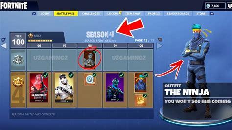 themes store s4 new season 4 battle pass tier 100 leaked leaked ninja