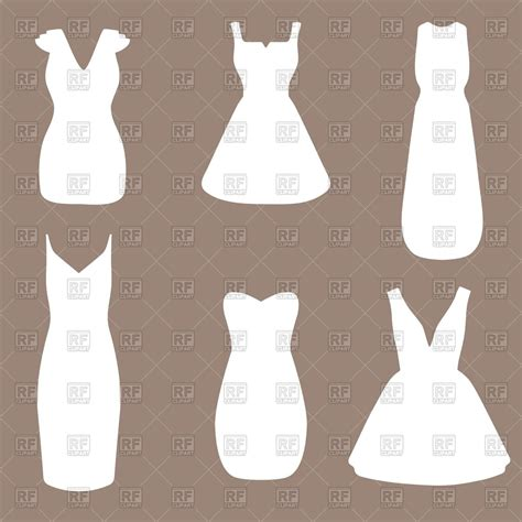 Wedding Vector Silhouette by Silhouettes Of White Wedding Dresses Royalty Free Vector