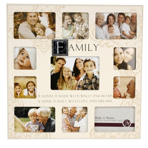 Family Very Large Cream MDF Collage Multi Photo Frame 11 x ...