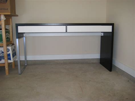decorating lovely ikea micke desk in white and black with