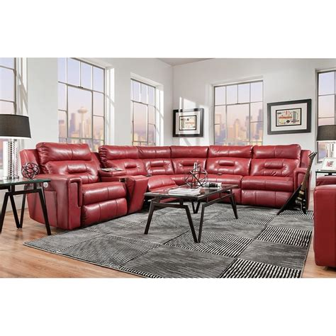 5 seat reclining sectional sofa southern motion excel power headrest reclining sectional