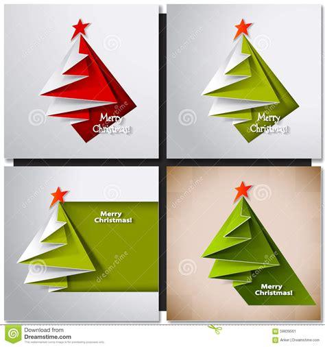 tarjeta del 225 rbol de navidad papiroflexia del vector