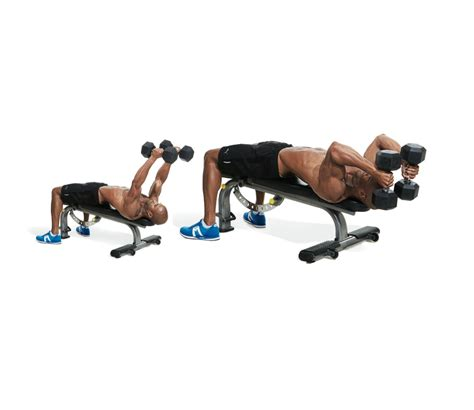 bench for dumbbell exercises 30 minute chest workout day iii men s fitness