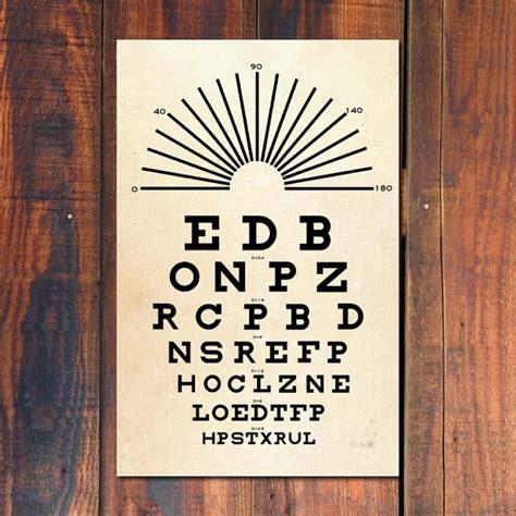 printable vintage eye chart eye chart poster print snellen eye chart poster vintage art