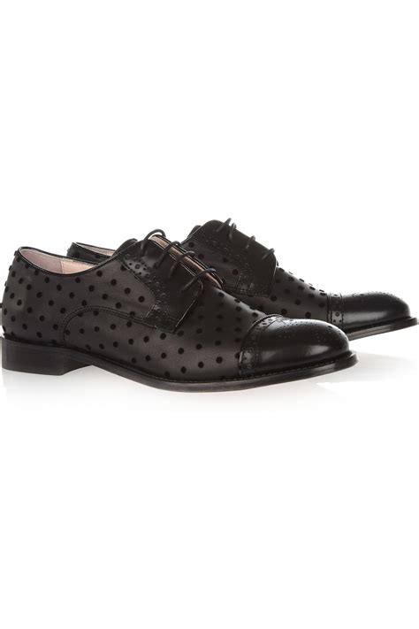 Gfa 21 Lace Valentino Classic Shoes 1 valentino leather and velvet brogues in black lyst