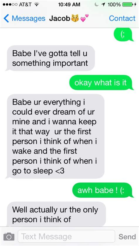 cute text messages we heart it texting boyfriend