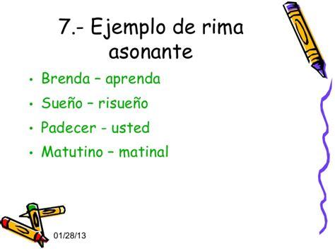 10 ejemplos de rima ejemplos de palabras con rimas consonantes y asonantes
