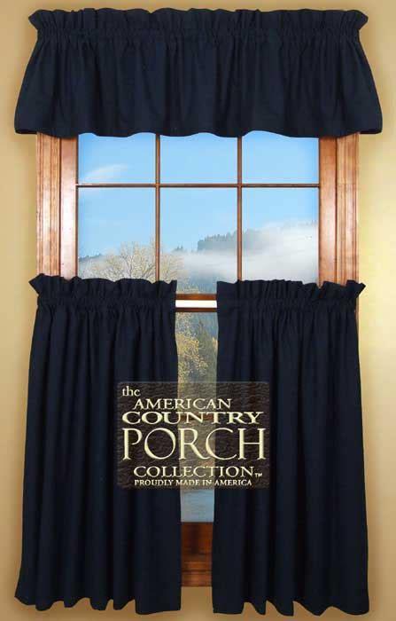 Solid Navy Blue Curtain Valances Navy Blue Kitchen Curtains