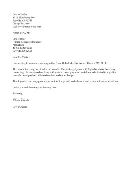 sample resignation letter 2 weeks notice crna cover letter