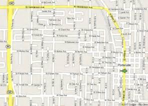 porterville california map central business bureau