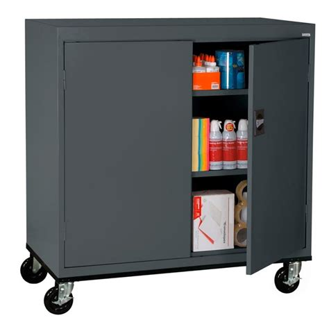 sandusky lee elite series counter height mobile cabinet