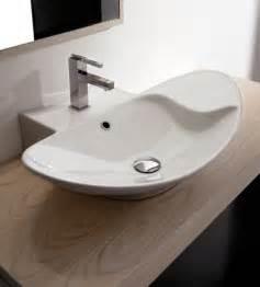 stylish bathroom sinks stylish oval shaped white ceramic vessel sink