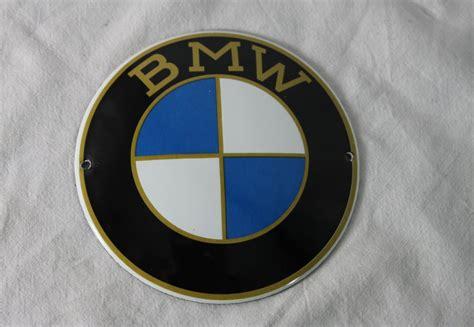 bmw logo emailschild tuerschild emaille gold   cm