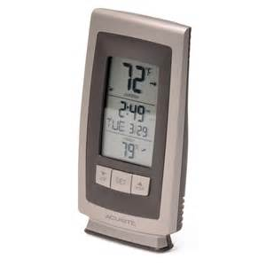 acurite backyard weather thermometer acurite digital indoor outdoor thermometer with intelli