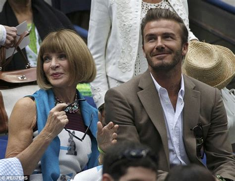 Beckham His Friends Travel by David Beckham Heads To Us Open With Wintour And Bumps