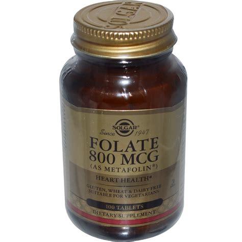 Mcg For Methhet Detox F Folate Supplements by Solgar Folate As Metafolin 800 Mcg 100 Tablets Iherb
