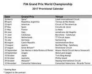 Calendario Qualificazioni Mondiali 2018 Pdf Motogp Ecco Il Calendario 2017 Supernews