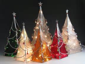 stained glass christmas trees christmas crafts pinterest