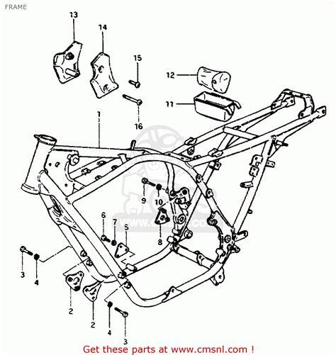 Suzuki Gs550e Parts Suzuki Gs550 1981 Lx Frame Schematic Partsfiche