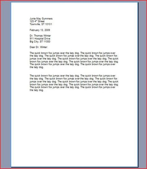 Letter Kinds Proper Spacing For Business Letters